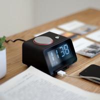 antique speaker - Hot White Black Double USB fast charging digital Alarm Clock Bluetooth Speaker thermometer LED clock AC110_240V DC V A