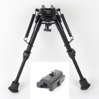 Wholesale 6 quot quot Harris Style Tactical Bipod Levels Adjustable Spring Loaded Legs