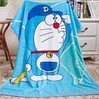 air conditioner cartoon - LJJD3291 kids blankets Kids summer blankets Pooh Hello KT Doraemon Blankets Air conditioner coral fleece Cartoon blankets