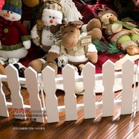 Wholesale Christmas decoration Christmas tree decoration on white wooden fence wood color installed