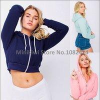 american apparel hoodie - New American Apparel Women s Cardigan Hoodie Jacket Thick Short Hoodies Hooded Sportswear Casual Sweatshirt
