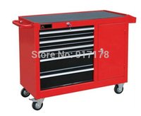 aluminum tool chests - 5 drawer roller metal tool chest and side cabinet