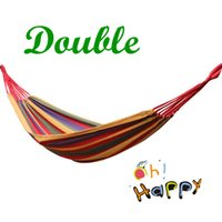 Cheap Outdoor Camping Hammock Double 200 * 150 CM Swing thick canvas Leisure Hammock Tourism Free Shipping