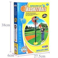 Cheap New 2014Children Outdoor game Toys Designer Gift For Kids Body Exercising Basketball Toy Set with Stand