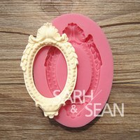 Wholesale 3D M0188 vintage picture frame cake molds soap chocolate mould for the kitchen baking cake tool DIY