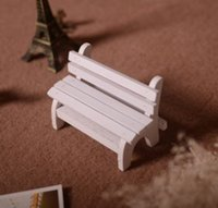 park bench - ZAKKA mini doll furniture wood chairs wooden double camera shoot props park bench