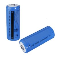 Wholesale Hot sale mAh V Rechargeable Li lithium Battery For Flashlight Torch Lamp order lt no track
