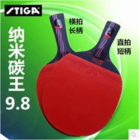 Wholesale 2016 New Arrival STIGA Carbon Carbon layers WRB CR Table Tennis Rackets Finished ping pong rackets FL CS