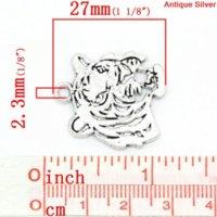 antique peridot necklace - Charm Pendants Tiger Animal Antique Silver x24mm Mr Jewelry pendant peridot pendant scarf pendant scarf