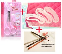 abs enhancer - lapis template abs resin kit eyebrows cosmetic stencils enhancer eyebrow pencil with comb shaper knife makeup tool