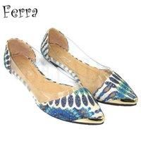 flat shoes women - Women Shoes Flat Shoe Vintage Casual Shoes Transparent Material Designer Comfortable Shoes Rubber Bottom Discount Flat Shoes for