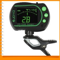 Wholesale JOYO JT B Free rotating LCD Backlight Mini Digital Chromatic Guitar Clip on Tuner with MIC Guitar Accessories