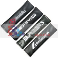 ag flag - 60 Sets Pair Real Carbon Fiber AG BR Flag Sport Black Shoulder pad Seat Belt Cushion MIX DHL Free
