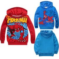 Wholesale Hot sale Baby Boys girls Kids Spiderman Sweatshirt Pullover Hoodies children s hoody clothes New