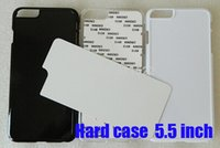 aluminium inserts - For iPhone plus heat press print sublimation phone case blank aluminium insert custom photos Fedex DHL