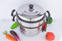 Wholesale Factory direct stainless steel steamer single bottom floor multi use steamer pot double multifunctional pot gift