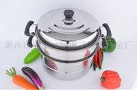 Wholesale Factory direct stainless steel steamer single bottom floor multi use steamer pot double multifunctional pot gift