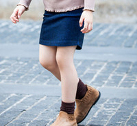 best denim skirt - 2015 Autumn Best Quantity Girls Denim Skirt Children Pure Colour Straigh Skirt Korean Style Kids ClothingFit Age SS250