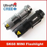0-1000 LM flashlight in torch light - UltraFire MINI ZOOMABLE W CREE Q5 LED Lumen mode X AA Flashlight Torch Zoom Lamp Light SK68