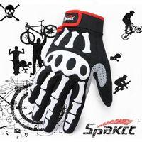 Wholesale Mountain Bike full finger gloves genuine ghost skull Spakct Sipa off riding gloves WG273