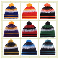 Wholesale 2015 Sport Knit Hat American Football Team Beanies Striped Cuff Beanie Knitted Hats Mix Order Cotton Basketball Sports Winter Hat