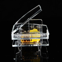 advanced piano music - hand cranked advanced Crystal Piano Music Box girl like toy