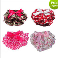ruffle panties - 2015 new style Cute Baby Girl Ruffle Panties Chiffon Pettiskirt TUTU style underwear the shorts for kids Free Shippng