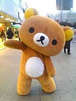 Wholesale Japan Rilakkuma relaxation bear Mascot Costumes green style Adult Size for Halloween party high quality Mascot Costumes factory direct sale