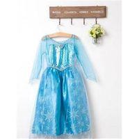 Cheap 2015 frozen 1pieces retail, Frozen Elsa costume custom size for kids princess dress sequined cartoon costume Free shipping girls dresses