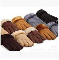 mens sports gloves - AAAA quality Fashion New Winter Leather Gloves winter gloves Mens Sports riding gloves Women winter thicken gloves LJJD1581 pairs