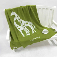 best baby blanket - High Quality pc Brand Cotton Giraffe Home Throw Knitted Ins Baby Beding Cover Blanket Designer Best Gift