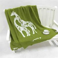 baby giraffe blankets - High Quality pc Brand Cotton Giraffe Home Throw Knitted Ins Baby Beding Cover Blanket Designer Best Gift