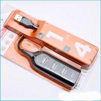 Wholesale 2016 cheapest Port USB Portable Hub For Desktop Laptop Black White Colors New Free DHL Shipping