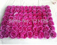 parterre - Artificial flowers carnation flowers head silk flower wall style parterre flower racks