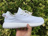 Wholesale The Newest Top Quality Kanye West boost Men and Women all black gray running shoes sports shoes