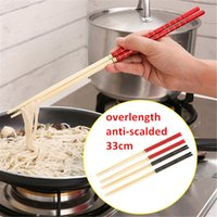 bamboo grill - cm chinese style chopsticks non slip anti scalded design bamboo chopsticks noodles hot pot grill tool kitchen tableware j