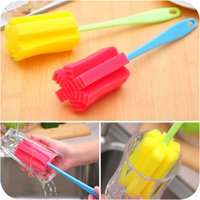 Wholesale 2015 summer style fashion Sponge Brush Bottle Cup Glass Washing Cleaning Tool Easy Gadget