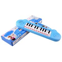 Wholesale 8 Songs Frozen Cartoon music piano electronic organ toy keyboard electronic baby education toy with music