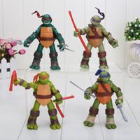 teenage mutant ninja turtles ninja turtles - 3 inch set of TMNT teenage mutant ninja turtles can be moving pvc toy doll model