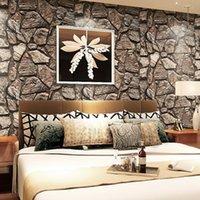 Wholesale 2015 Papel De Parede Para Sala d Stereoscopic Imitation Rock Wallpaper Background Restaurant Bar Hotel Decoration Wall Paper
