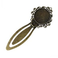 lead free nickel free - Dorabeads Metal Bookmarks Round Antique Bronze Cabochon Setting Fit mm Dia Lead amp Nickel Free cmx cm