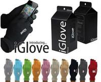 Gants d'écran de haute qualité unisexe iGlove capacitif tactile pour iPhone 6 6s 5 5C 5S pour ipad iGloves téléphone intelligent avec des gants détail pack