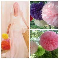 Wholesale 10 set Wedding Decorative cm quot Props Supplies Tissue Paper Pom Poms Wedding Party Festival Decoration