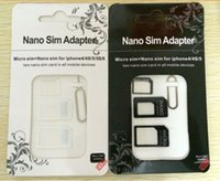 Wholesale Nano Sim Card Adapter to Micro Sim Card Standard Adapter For iPhone S With Eject Pin