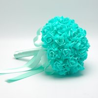 best new hybrid - Blue Best selling Bridal Hand Flowers Many Colors Wedding Accessories Bridesmaid Bride Bouquets Flowers Silk Wedding Bouqet WWL