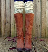 ladies knee socks - 2015 autumn leg warmers flounce hollow boot cuffs over knee socks boot socks for women ladies cotton socks colors boot socks