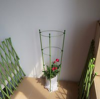 Wholesale 52cm PVC Coated Waterproof Garden Planter Green Folding Garden Trellis Plant Flower Supporter