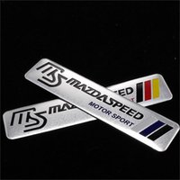 aluminum labels - 3D Aluminum car stickers for Mazda m3 m6 MAZDA Mazda car decoration decorative labels