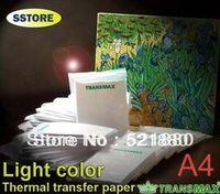 best sublimation paper - 100pcs Best Quality TransMax Light color A4 heat transfer paper for tshirt thermal paper sublimation transfers paper bag