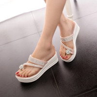 animal platform - Lovely Beading Women s Platform Toe Ring Flip Flop Sandals Shoes
